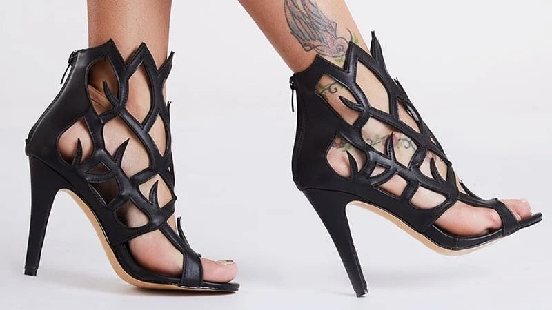 cut out heel sandals تین بانی